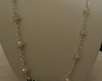 Once Upon A Time title with pink crystal Necklace