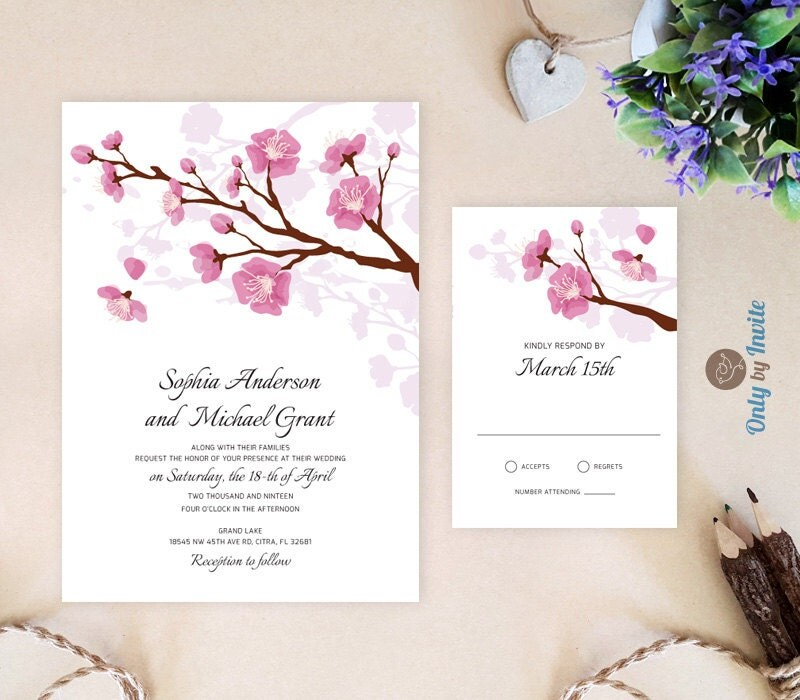 Printed Wedding Invitations With RSVP Suite Cheap By