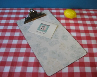 Formica Clip Board - Laminate - Masonite - Floral - Legal - Retro Office - Vintage 1960's