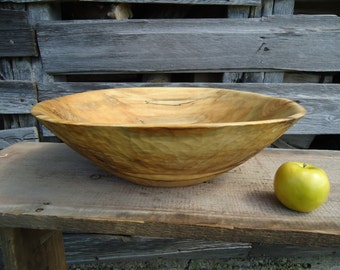 Large wood bowl - Table centerpiece - Hand carved wood bowl - Wooden bowl - Dough bowl - Large bread bowl, Wood Bowl, Maple bowl, Gift ideas