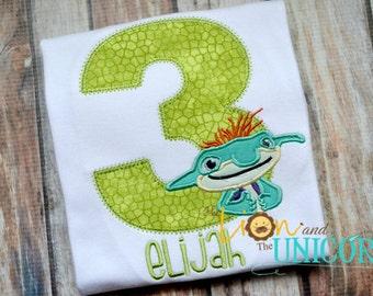 Bobgoblin Bob Goblin Wallykazam Wally Birthday Shirt - Number can be changed