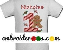 Gingerbread Boy! Birthday Shirt or Onesie