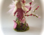 Spring Fairy.Waldorf. Hand-felted. Needle felted .Waldorf