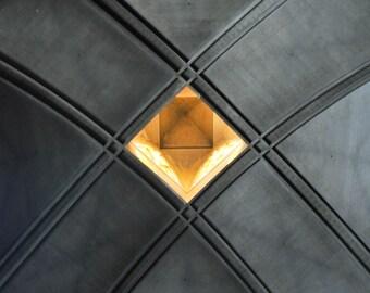 Golden Eye. | Saint Jean de Montmartre Church Paris Sanctuary Geometric Charcoal Art Noveau Fine Art Photography  8x10