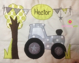 Tractor Embroidery Design, Doodle Tractor, Tractor, Embroidery Tractor, Tractor applique design, Tractor PES, Farm Tractor,sketch,colorwork