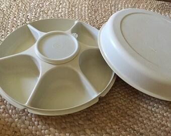 Tupperware Vintage Vegetable/Dip Server 1665, 1666, 1667 and 215