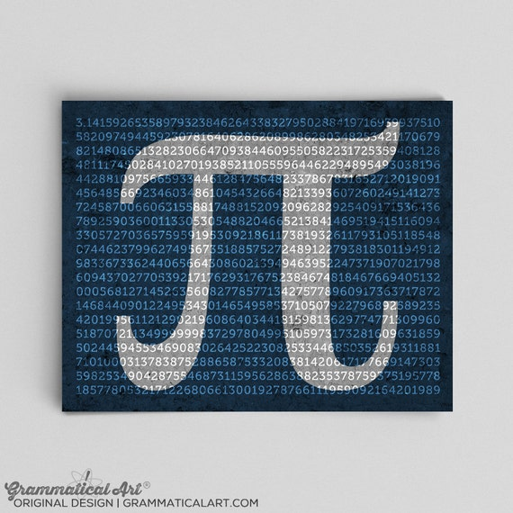 Math Pi Print to 1000 Digits Physics Science Decor Pi Day Math Teacher Gifts for Teachers Gift Ideas Unique Gifts for Her Gifts for Him Nerd