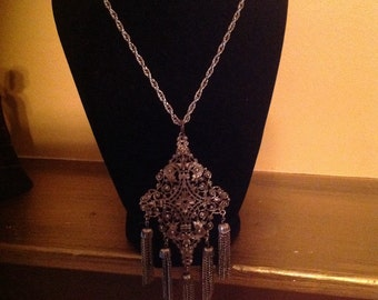 Vintage Silver 1920's Style Necklace