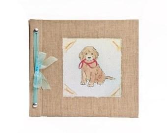 Baby Book - Baby Memory Book - Boy, Puppy, Dog, Baby Album - Puppy Baby Memory Book - Hugs and Kisses XO Baby Memory Book