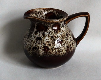 Cute Vintage Little Brown Jug with Mottled Pattern 60's/70's