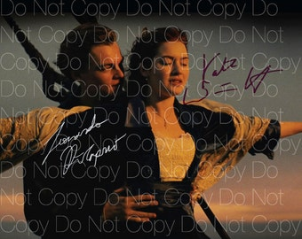 Titanic signed Dicaprio Kate Winslet 8X10 photo picture poster autograph RP