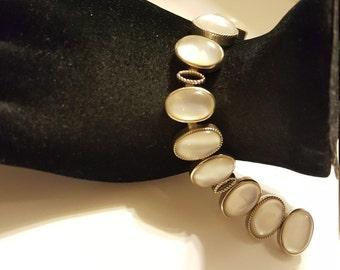 Vintage Sterling Silver Semi-Precious Bracelet