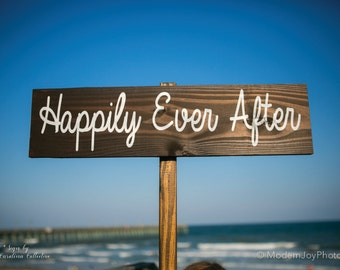 Happily Ever After Wood Sign | Happily Ever After | Wooden Wedding Signs | Personalized Wedding Signs | Wood Wedding Sign | Signs - WS-189