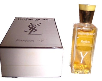 "Vintage YSL Yves Saint Laurent French Parfum ""Y"" YSL Perfume Cologne Bakelite Lid Made in France"