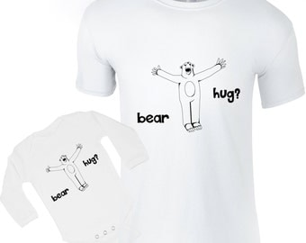 Matching t-shirts, father bear, baby dad shirts, parent child clothes, daddy gift