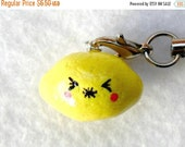 ON SALE Kawaii Lemon Charm, with Sour Face :D