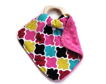 Limited Edition Diamond Mini Teething Lovie Security Blanket - Lovie Blanket - Teething Blanket - Baby Blanket