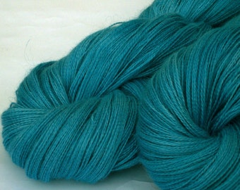 Heavy Lace weight hand dyed yarn- lakes
