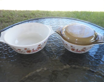 Woodland Country Autumn Pyrex Set Made in England