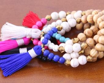 B211 - Tassel Bracelet - Friendship Bracelet - Arm Candy - Boho Jewelry - Claribella