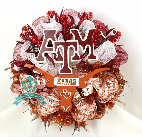 Texas Longhorns Texas A Amp M Aggies Fan House By Crazyboutdeco
