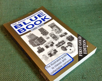 Jessop International Blue Book 1989 - 1990 First Gold Edition - Camera Guide and Collecting Value Information