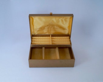 Jewelry Box Vintage Gold BUXTON Jewelry Chest