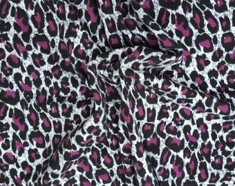 Cotton Modal Spandex Purple Cheetah Print #18 Fabric Jersey Knit by yard 8/16