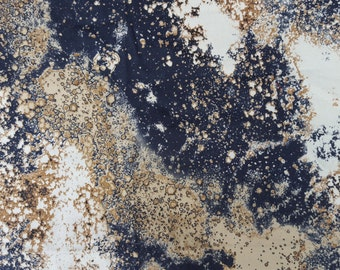 Cotton Twill Spandex Galaxy Space Print Fabric By Yard European (Flight Jacket)