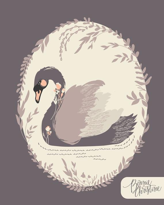 Hello, Ollie Dabbling Swan in Plum