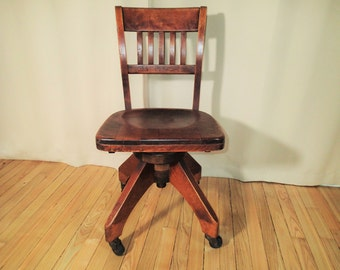 industrial antique all wood swivel office chair swivel secretary chair antique swivel office chair