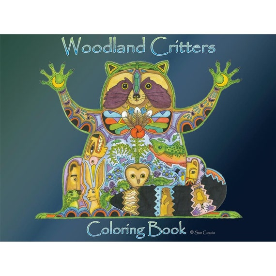 Animal spirit coloring book by sue coccia woodland critters Spirit animals coloring book