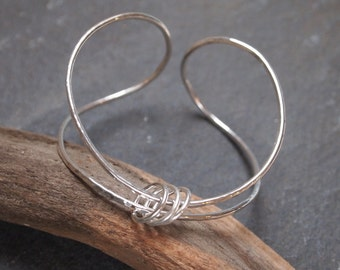 Silver Bangle, Silver Cuff, Sterling Silver bangle bracelet, spinner ring bangle, hallmarked silver, designed & handmade by ARC Jewellery UK
