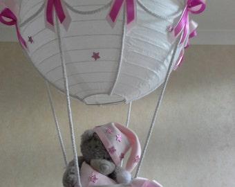 Hot Air Balloon Nursery light  shade with Tatty Teddy / Made To Order