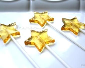 Twinkle Twinkle Little Star, Star Baby Shower, Star Birthday, Star Wedding, New Year's Eve Party Favors, 12 Star Lollipops, Barley Pops