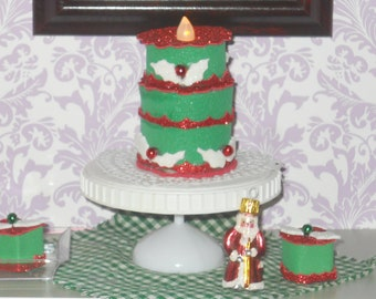 American Girl Doll Christmas Cakes and petit fours by Grandma B designs