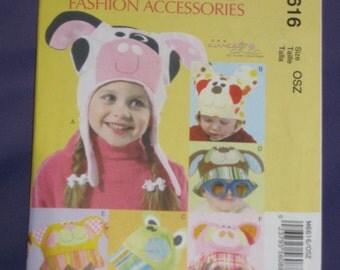 Uncut Pattern - McCall's M6616 - 6 Children's hats = size s,m,l