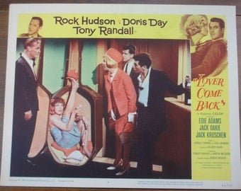 Original movie lobby card Lover Come Back Doris Day Rock Hudson