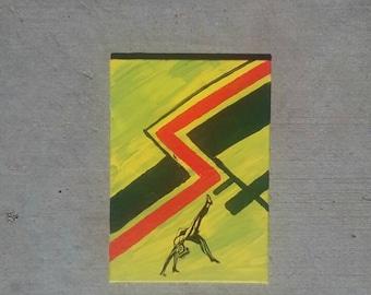 Tiny Dancers Acrylic Painting | Backbend