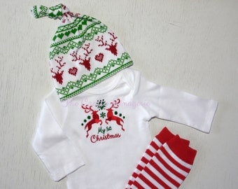 First Christmas Outfit, Boy Coming Home Christmas Outfit, Girl Coming Home Christmas Outfit, Coming Home Christmas Set