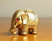 Vintage Max Factor Tiny Tusker Solid Perfume Compact, Max Factor Elephant Solid Perfume, Elephant Figure, Hypnotique perfume, Pill Carrier
