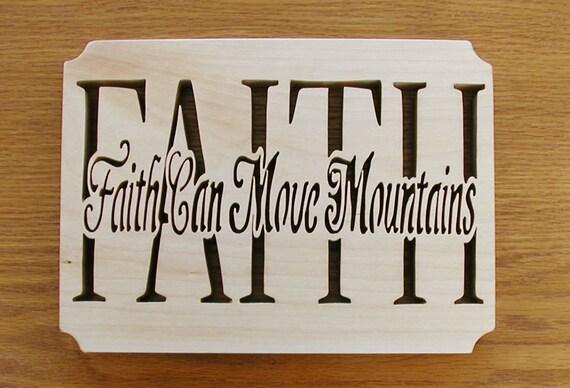 Wall decor faith faith can move mountains cut on for Faith decor