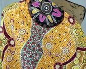 Women's Business Gold--Australian Aboriginal Fabric--Australian Fabric by the HALF YARD--Aboriginal Design--Quilt Fabric--Cotton Fabric