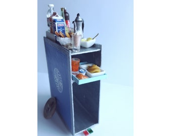 Made to Order | Airline meal trolley | Dollhouse miniatures | Miniatures | Airline miniatures | Diorama | OOAK