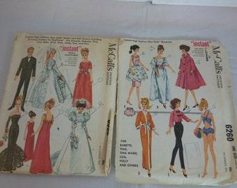 Vintage Barbie McCall Doll Patterns