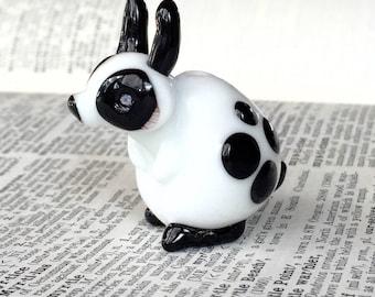 Lampwork Bunny spotty dotty Rabbit
