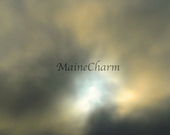Fog Rolling In, Maine Photography, Abstract art print, Maine art