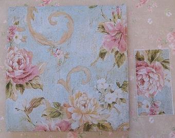 Tea Bag Envelopes - Floral - Qty of 6 Envelopes