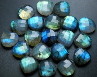 5 Matched Pair,Finest Quality,Labradorite Faceted Heart Shape,14mm Size