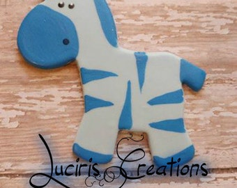 Blue Giraffe Cake Topper It's a Boy Baby Shower Cake Decoration